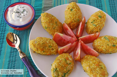 Kibbeh de lentejas rojas y bulgur con calabaza: receta vegana saludable y fresca