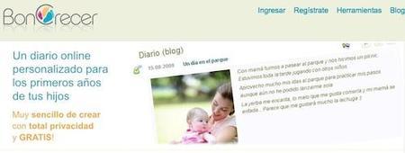 Boncrecer, diario online para el bebé