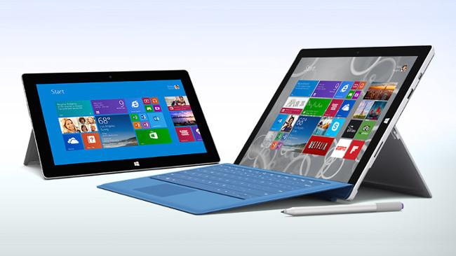 La gama actual de tablets de Microsoft: Surface 2, Surface Pro 2 y Surface Pro 3