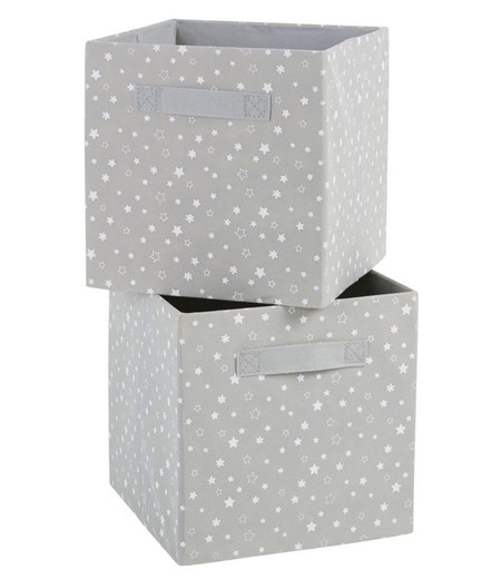 Cajones De Almacenaje Grises Con Estampado De Estrellas Blancas X2 1000 0 2 206601 1