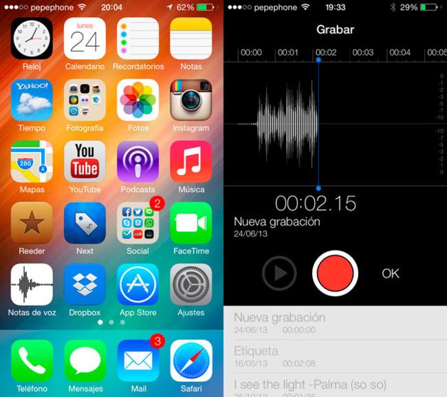Notas de Voz en iOS 7