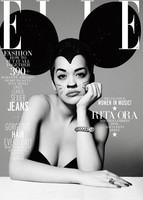 Rita Ora, una ratoncita con pucheros en la portada de Elle