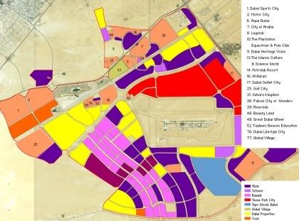 La construcción de Dubailand
