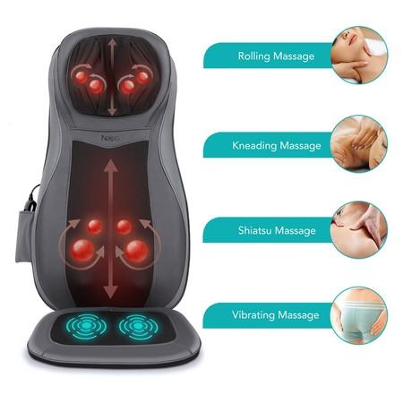 Respaldo masajeador eléctrico para cuello, espaldas y caderas rebajado en Amazon de 119,99 euros a sólo 89,99 euros
