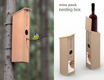 ¿Caja de vino o caseta para pájaros?