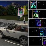 Estas señales de tráfico cambian de color por la noche cuando porque están hechas de un nuevo material