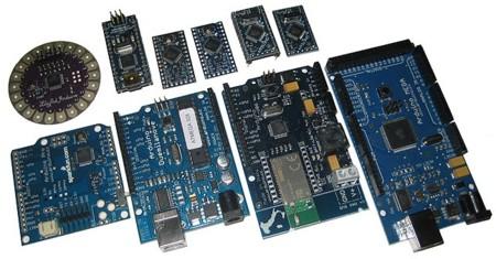 Algunas placas Arduino