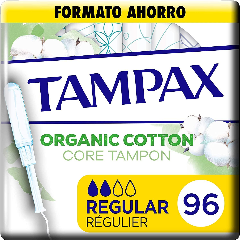 Tampax Cotton, Regular, 96 Unidades
