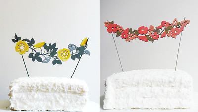 Los preciosos adornos para tartas de madera de Madeline Trait