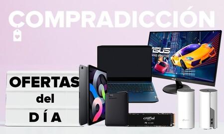 Bajadas de precio en Amazon: portátiles gaming Lenovo, tabletas iPad de Apple, discos duros WD y Crucial o monitores ASUS y Philips en oferta