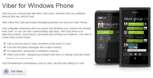 Viber renueva su aplicación para Windows Phone