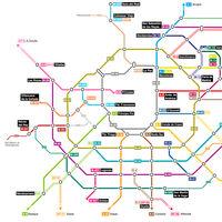 El plano de las carreteras de Madrid... ¡como si fueran las líneas del Metro madrileño!
