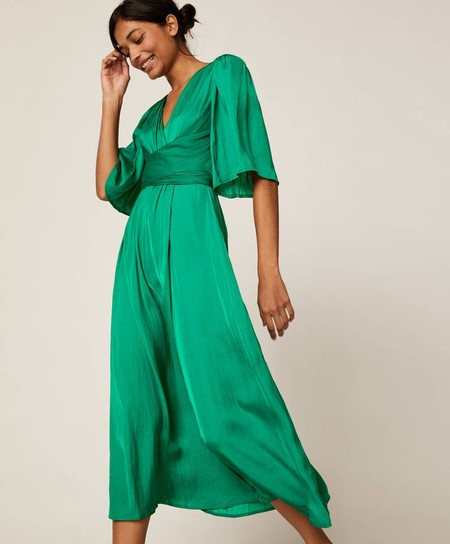 vestido verde oysho
