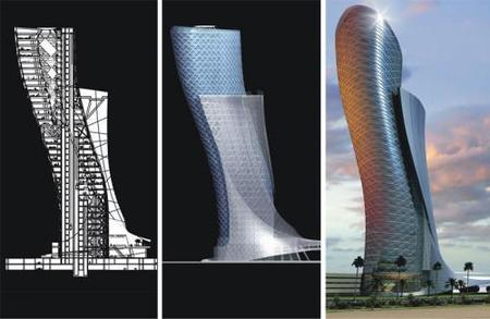 Capital Gate, Abu Dhabi: la torre de lujo más inclinada del mundo