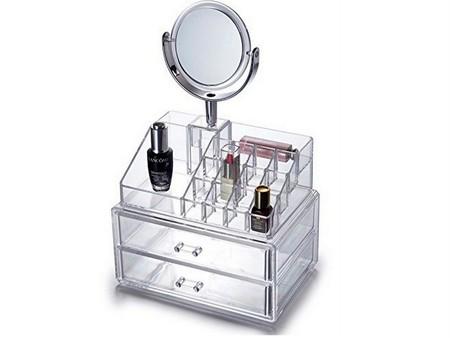 organizador maquillaje espejo