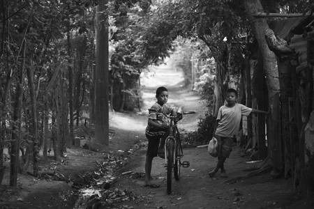 Two Young Boys In Rural Nicaragua