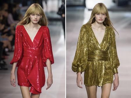 Celine Dress Red Gold