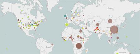 Mapa de brotes de enfermedades con prevención por vacunas