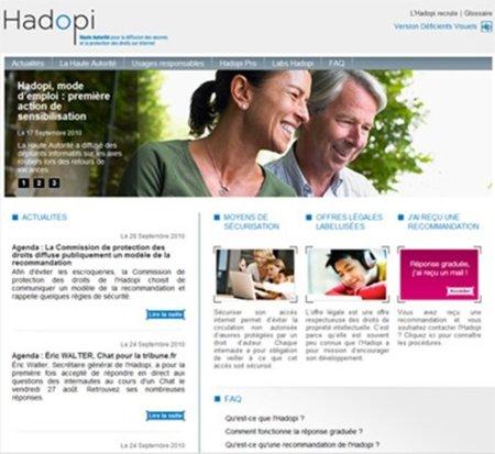 El accidentado estreno de la web de Hadopi