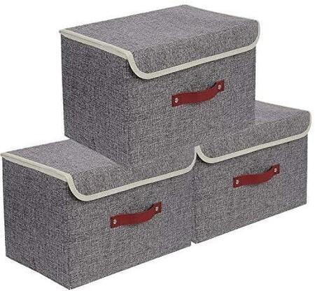 Set de tres cajas de almacenaje con descuento