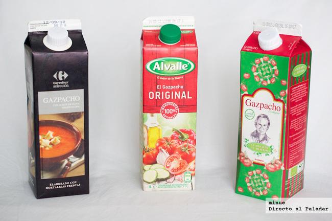 Comparativa de gazpachos envasados - 1
