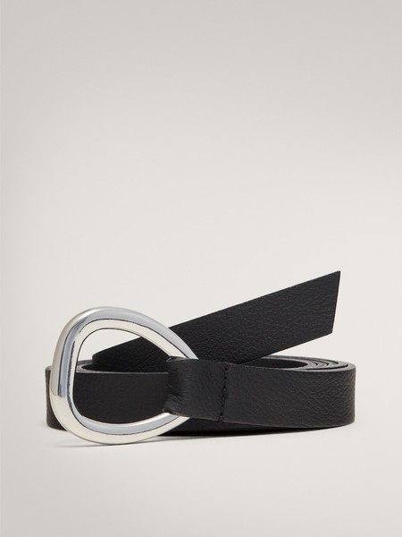 Cinturon Negro Nudo Hebilla Pequena Limited Edition