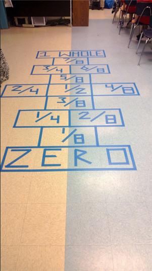 ¿Habéis probado a jugar a la rayuela mientras practicáis las fracciones?