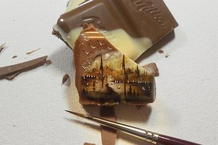 Hasan Kale y su increíble pintura en miniatura sobre comida