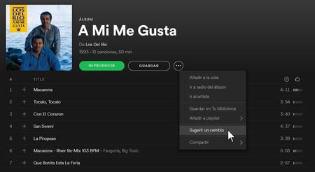 Sugerir Edicion Spotify