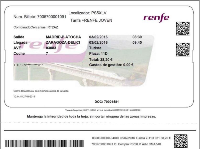 Los nuevos billetes de Renfe serán personalizados
