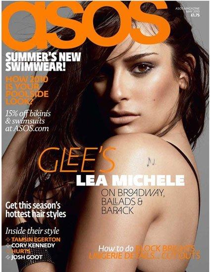 Lea Michele, de 'Glee', arrebatadora en la revista Asos