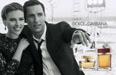 """The One"" de Dolce & Gabbana con Scarlett Johansson y Matthew McConaughey"