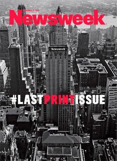 Newsweek decora su última portada impresa con un hashtag gigante