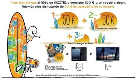 Jazztel renueva su Plan Amigo con hasta un televisor de 32 pulgadas o un iPad Mini