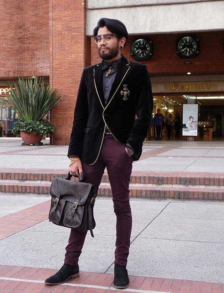 Trendencias Hombre Terciopelo Street Style 2018 16