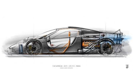 El superdeportivo T.50 de Gordon Murray tendrá un V12 atmosférico capaz de subir hasta ¡12.100 rpm!