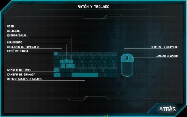 Jugabilidad con ratón y teclado