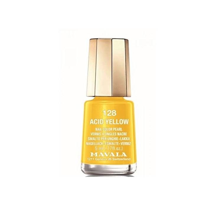 Esmalte de uñas amarillo Acid Yellow de Mavala