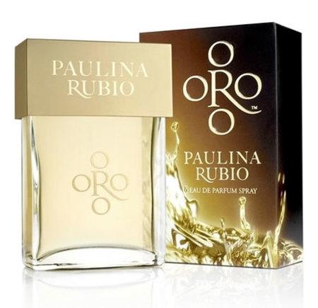 Paulina Rubio ya tiene su propio perfume, Oro