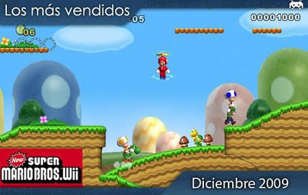 Los juegos más vendidos en España. Diciembre 2009
