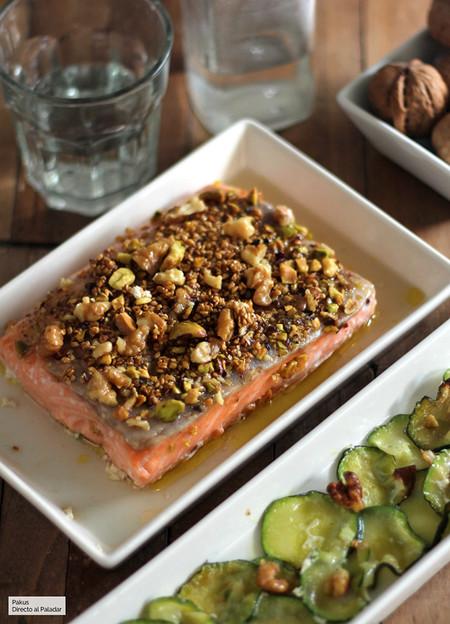 Salmon Al Horno Con Frutos Secos