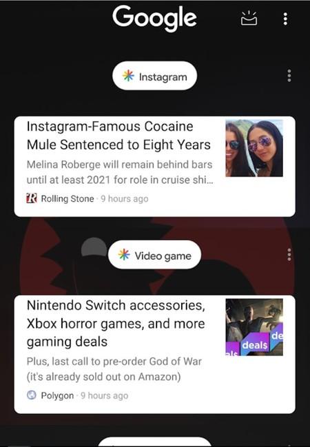 Nuevo Feed de la aplicación de Google