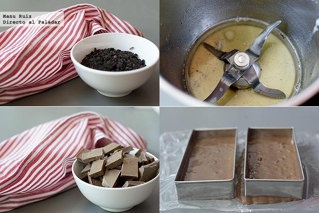 Turron de chocolate con galletas oreo paso a paso