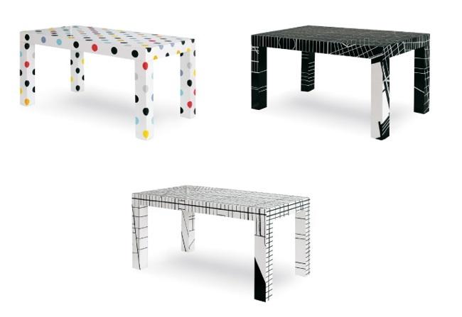 Trip furniture, colección de muebles multicolor