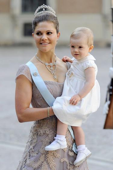 Pero qué divina Victoria de Suecia en la boda de su hermana