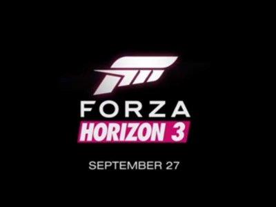 Forza Horizon 3 es oficial, llega en septiembre para Xbox One y Windows 10