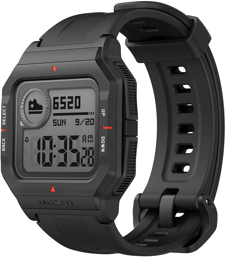 Amazfit Neo Smart Watch Reloj Inteligente 28 Días Batería 5 ATM Sensor Seguimiento Biológico Frecuencia Cardíaca iOS & Android (Negro)