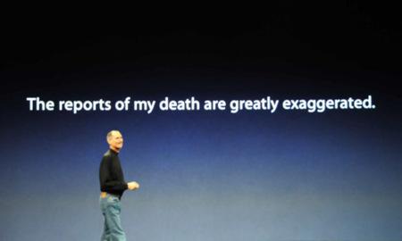 """""""La noticia de mi muerte fue una exageración"""" - Steve Jobs"""