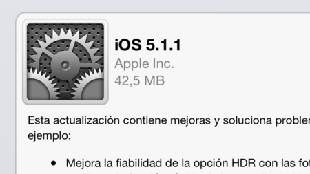 iOS 5.1.1 ya disponible para todos los dispositivos