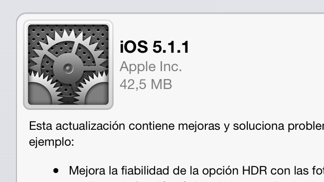 iOS 5.1.1 apple ipad iphone
